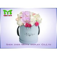 Romantic Beautiful Flower Gift Luxury Flower Box With Ribbon , Flower Hat Box Manufactures
