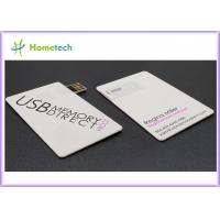 China Full Color Logo Printing Credit Card USB Storage Device / Business Card USB Flash Drive on sale
