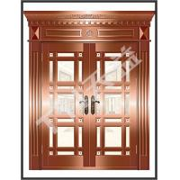 China copper glass entry doors on sale