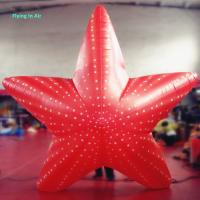 3m Red Inflatable Starfish with Blower for Party and Advertisement Manufactures