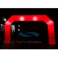 China Red PVC Blow Up Start Finish Line Inflatable Gate LED Light Balloons on sale