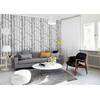 China Vantage Birch Tree Modern Removable Wallpaper / Wallpaper for Living Room  0.53*10M on sale