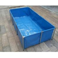 Fireproof 4000L Tarpaulin Fish Tank With Blue Fish Pond Liner Environmental PVC