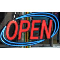 China Acrylic Indoor LED Open Sign Neon Light 5W Power With Remote ON/OFF Blinking on sale