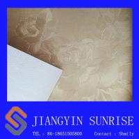 Home Seamless Decorative Leather Modern Floral Wallpaper For Living Room Manufactures