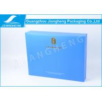 Quality Blue Book Shaped Cardboard Gift Boxes , Eco Friendly Gift Packaging Box for sale