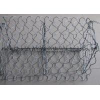 China 1m Height Wire Gabion Baskets In Hot Dip Galvanized Or PVC Coated wholesale