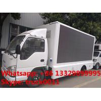 ISUZU LHD mobile digital billboard LED advertising vehicle for sale, hot sale best price outdoor LED billboard truck Manufactures