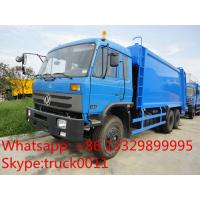 China hot sale good price dongfeng 6*4 18cbm garbage compactor truck, factory best price dongfeng 16m3 compacted garbage truck wholesale
