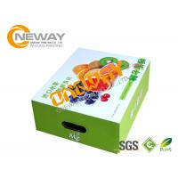 Printed Packaging Boxes , Custom Printed Recyclable Farm Packing Paper Apple Box Manufactures