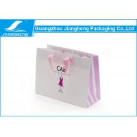 Matt Effect Logo Printed Paper Shopping Bags Paper Gift Bags With Handles Manufactures