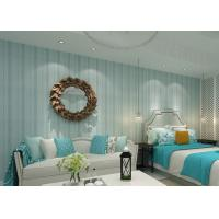 Modern Striped Wallpaper Yarn breathable wall covering for bedroom Manufactures