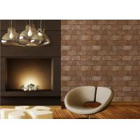 PVC 3D Brick Printing Natural Style Interior Room Wallpaper 0.53*10M Manufactures