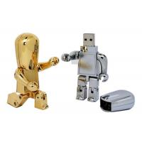 China Robot Shaped Metal USB Flash Drive Gold / Silver With Full Capacity on sale