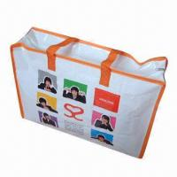 China Zipper Closure Laminated Bag Made of PP Woven with Printed OPP Film wholesale