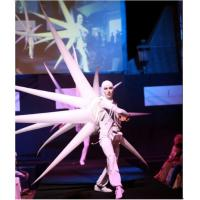 2m White Perform Cloth Wearable Moving Inflatable Wing For Stage Manufactures
