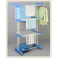 3 Tier Free Standing Clothes Drying Rack , Indoor / Outdoor Clothing Hanger Storage Rack Manufactures