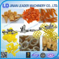 Small scale screw shell chips 3D pellet extruding and frying process line Manufactures