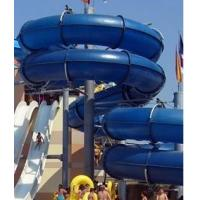 Fiber glass spiral water slide with different color for water park