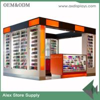 mobile phone counter kiosk mall sale accessories counter display wood mdf kiosk Manufactures