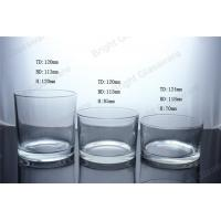 clear large cylinder glass candle jar in home decoration Manufactures