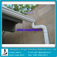 China seamless rain gutter and fittings for water drainage on sale