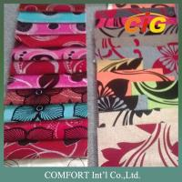 100% Polyester 145cm Width Flock Jacquard Upholstery Fabrics For Couches Manufactures