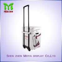 Recyclable Cardboard Trolley Box with Wheels and Handle For  Expo And Exhibition Manufactures