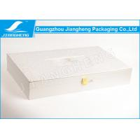 Rose texture paper silver color cosmetic set packaging boxes with gold lock Manufactures