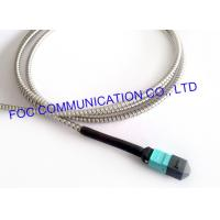 Buy cheap MPO Armored Multimode Fiber Optic Cable Cord OM3 MM 50/125um 12 Core from wholesalers