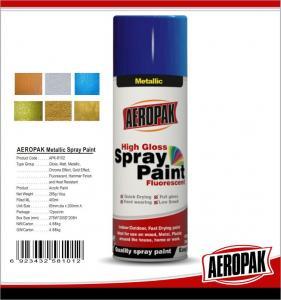 Fast Dry 400ml Aerosol Spray Paints /  High Coverage Black Spray PaintFor Cars