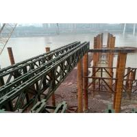China Modular Mabey Compact 200 Bridge Temporary Steel Bridge For Construction Support wholesale