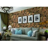 Chinese Style Embossed 3D Home Room Decoration Wallpaper For Saloon / TV Background Manufactures