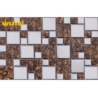 China Acid - resistant Electroplating Backsplash Mosaic Glass Wall Tiles For Kitchen on sale