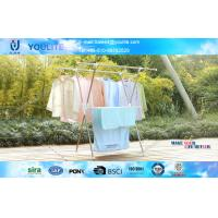 X-type Indoor Outdoor Retractable Clothes Drying Rack / Mobile Towel Hanging Racks Manufactures