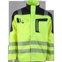 security Green high visibility workwear Jacket flame retardant clothing Manufactures