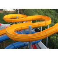 Adult Open Spiral Slide Huge Water Park Single Water Slide For Aquasplash Manufactures