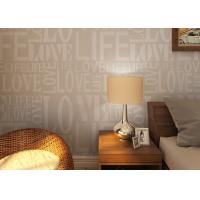China 0.53*10M Modern Non - woven Wallpaper , Fashion LOVE English Letters Wallpaper on sale