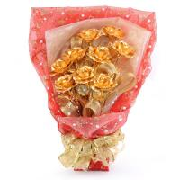 China gold foil rose on sale