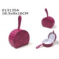 Buy cheap Valentines Day Decoration Gift Box Set Purple Pink Color With Faux Leather Loop from wholesalers