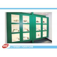 Green Painted Showcase Wood Display Cabinets For Mechanical Tools / 4200mm * 600mm *2400mm Manufactures