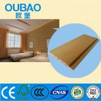 China eco - friendly ISO CE SGS FSC certified 90 * 9mm wood plastic compoiste wall cladding on sale