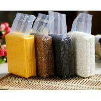 Food Clear Stand Up Pouches , Flat Bottom Air Foil Pouch Packaging Heat Seal Manufactures