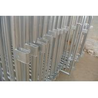 Standard Crowd Control Barriers 1.1m x 2.5m hot dipped galvanized and pvc coated  OD 32mm outer pipes and OD 20mm Manufactures