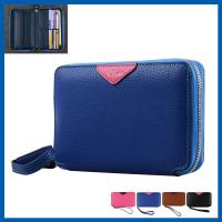 Buy cheap Convenient Cell Phone Leather Cases Wallet Women Multiple Card Slots With Zipper from wholesalers