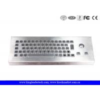 Dust-Proof and Waterproof Desktop Industrial Keyboard With Stainless Steel Trackball Manufactures