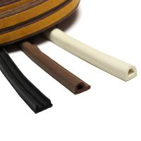 Buy cheap self adhesive rubber strip door seals sponge foam EPDM rubber extrusions E/P/D shaped section from wholesalers