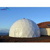 China White 850g Customized Pvc Large Geodesic Family Tent For Event on sale