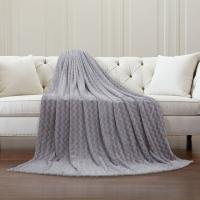 China Warm Printed Pattern Flannel Plush Blanket Plain Style For Couch And Bed Throw wholesale