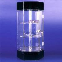 Counter top acrylic display cabinet with light, customized logo printings are accepted Manufactures